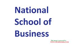 mba operations - MBA - Management quota - NATIONAL SCHOOL OF BUSINESS @ http://www.coursesmba.com/