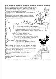 Reading Worksheets, Italian Language, Learning Italian, Winter Activities, Teaching, School, Books, Kids, Mamma