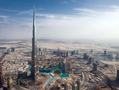 Go on the observation deck on the 124th floor of the Burj Khalifa in Dubai, UAE.