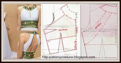 PATRÓN        Y        COSTURA    DIY: Tema 53  Vestido cuerpo drapeado