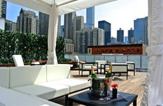 The Godfrey Hotel Chicago Chicago, Illinois Balcony Boutique Drink Hip Living Lounge Modern Patio Rooftop Terrace property condominium building room Architecture interior design home City plaza Design apartment window covering outdoor structure Rooftop Brunch, Rooftop Lounge, Rooftop Restaurant, Rooftop Bar, Restaurant Disney, Rooftop Garden, Brunch Chicago, Chicago Bars, Viajes