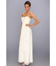 Laundry by Shelli Segal Gold Drop Chiffon Gown Snow - Zappos.com Free Shipping BOTH Ways