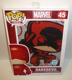 MEDIUM - Daredevil Short Sleeve T-Shirt Funko POP Tees Marvel 45 Unisex Skyline
