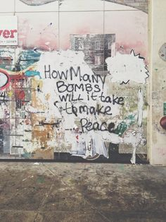 How many bombs will it take to make peace!!  [follow this link to find a bundle of videos and analyses related to the sociology of war: http://www.thesociologicalcinema.com/1/category/warmilitarybd0766f6c5/1.html]
