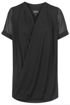 PETITE Drape Front Tunic Dress