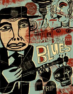 Nate Williams - Chasing The Blues With Hand Drawn Lettering (Paste Magazine) #illustration #music