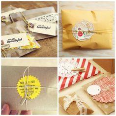 Como hacer una bolsa con papel craft para un regalo y decorarla!