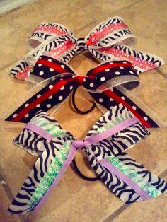 Cheer Bows by Taylor :) <3