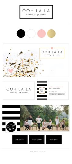 NADEL Like it all! Brand Identity, logo, stationery for for Ooh La La Weddings and Events by Fly Away Design. Wedding planner in Sonoma County, CA