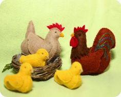 WOLfjes Wereld: Haan, kip en kuikens