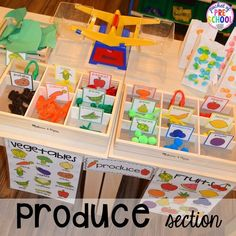 preschool classroom set up Grocery Store dramatic play! How to set it up & add literacy and math opportunities to the grocery store in your preschool, pre-k, & kindergarten cl Dramatic Play Themes, Dramatic Play Area, Dramatic Play Centers, Preschool Centers, Preschool Activities, Preschool Layout, Nutrition Activities, Nutrition Guide, Therapy Activities