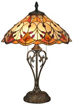 Dale Tiffany Marshall Art Glass Table Lamp | LampsPlus.com