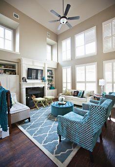 Bright Blue Living Room Makeover - Home Makeover Ideas - Good Housekeeping Studio Ten 25 Interiors
