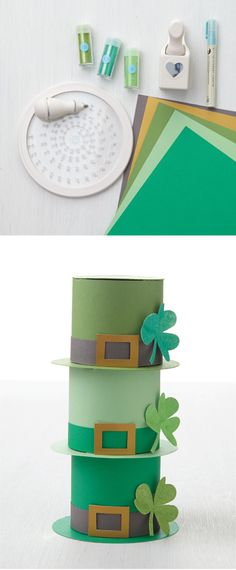 Mini leprechaun hats for your St. Patrick's Day shenanigans #MarthaStewartCrafts