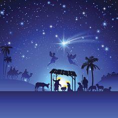 Presépio de Natal - ilustração de arte em vetor