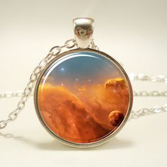 Galaxy Necklace, Nebula Jewelry, Stars And Universe Hipster Space Pendant (1392S1IN). $14.45, via Etsy.