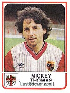 Mickey Thomas, Stoke City Fc, Football Stickers, Manchester United Soccer, Uk Football, The Unit, Baseball Cards, Collection, British Football