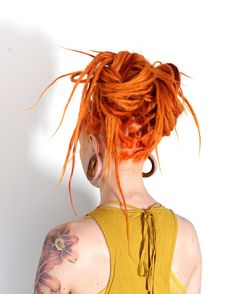 One more of my spontaneous Dreadlock updos that I just love making. Here is my client @jp_37 to find tutorials on how to make dreadlock updos please check out our website for inspiration! http://dreadstuff.com