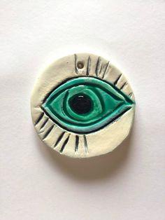 Blue Eye - I Love Clay Art - Mary's Creative World - Blog & Shop by Maria Doudouli
