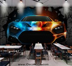 pourvat wallpaper colorful fancy car braking wall Art Wall Murals Wallpaper Decals Prints Decor I Cheap Wallpaper, Custom Wallpaper, Photo Wallpaper, Wall Wallpaper, 3d Wallpaper Stickers, Graffiti Wall Art, Wall Murals, 3d Wallpaper Landscape, Break Wall