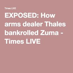 EXPOSED: How arms dealer Thales bankrolled Zuma - Times LIVE