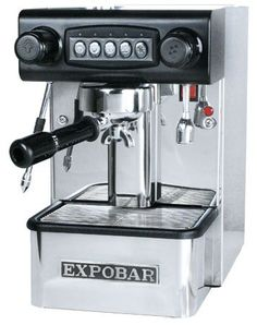 Expobar Office Control Espresso Machine E61 Brew Group.. Programmable Extraction Amount - You set how much water goes through each shot.. Heat Exchange Boiler System - NO WAIT for steam.. Stainless steel housing - Beautiful machine to spotlight on your counter.. Large 12 oz Brass boiler - you won't run out of water while steaming, and can brew multiple shots with little recovery time..  #Expobar #Kitchen