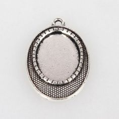 10pcs Alloy Pendant Cabochon Cameo Base Settings Antique Silver Oval Jewelry DIY