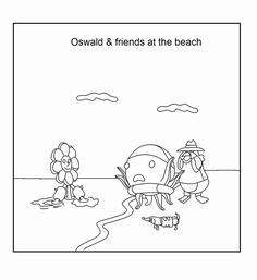 oswald the octopus coloring page - Oswald Octopus Coloring Pages