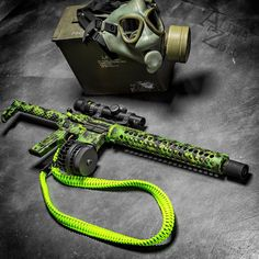 Cerakote MADness Toxic Build we did for AZPhotoMan, who also provided this great picture! Some great companies involved here: San Tan Tactical, Battle Arms Development, Midwest Industries, Inc., Black Hole Weaponry, Dahmer Arms, Fox Den Tactical sling. For more projects visit www.madcustomcoating.com.