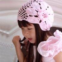 Pink Baby Summer Hat free crochet graph pattern oh beautiful Crochet Kids Hats, Crochet Girls, Crochet Beanie, Knit Or Crochet, Crochet Crafts, Crochet Clothes, Knitted Hats, Crochet Flower, Baby Hut