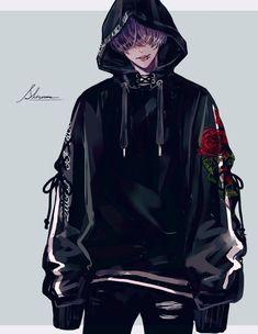 Anime Demon Boy, Dark Anime Guys, Sad Anime Girl, Cool Anime Guys, Handsome Anime Guys, Cute Anime Boy, Garçon Anime Hot, Anime Oc, Anime Angel