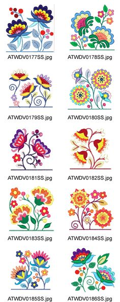 Jacobean-Pocket-Toppers 10 Machine Embroidery Designs from Crewel Embroidery Kits, Ribbon Embroidery, Cross Stitch Embroidery, Machine Embroidery, Embroidery Books, Embroidery Alphabet, Embroidery Needles, Embroidery Supplies, Embroidery Tattoo