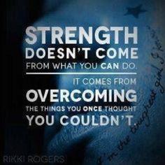 A força não vem do que tu podes fazer...