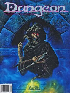 In a deck of many things The Skull card summons a minor Death (Bob Eggleton, Dungeon 19, Sept-Oct 1989) Note The Void card is shown on the floor in error.