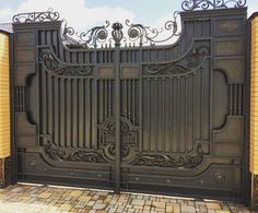 Now this is Grand Entrance Gates! Our products of… Modern Main Gate Designs, Iron Main Gate Design, Gate Wall Design, House Main Gates Design, Steel Gate Design, Front Gate Design, Metal Driveway Gates, Metal Gates, Front Gates