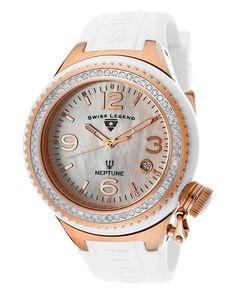 """Swiss Legend Women's """"Neptune Ceramic"""" Diamond Watch is on Rue. Shop it now."""