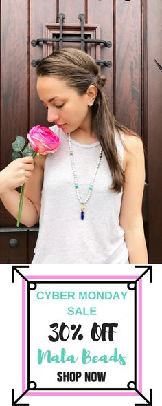 Mala Beads Necklace Cyber Monday Sale 2016 30% OFF ENTIRE STORE. SIGN UP FOR COUPON CODE HERE: http://eepurl.com/cqx30H