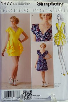 Simplicity 1877 Misses' Dress in Two Lengths with Skirt Variations