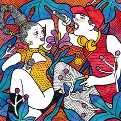 two famous music stars in love #illustration #watercolor #marker #couple #beautifulcouple #upsidedown #color #2018calendar Beautiful Couple, Markers, Calendar, Graphic Design, Watercolor, Stars, Music, Illustration, Pen And Wash