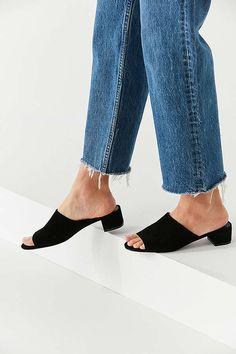 Slide View: 1: Patti Suede Mule Heel