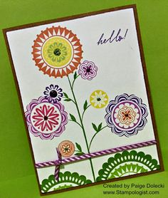 """Paige Dolecki - Stampologist February 2015 SOTM """"A Happy Hello"""" Get yours for just $5 by shopping at www.Paige.CTMH.com!"""