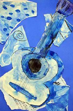 Picasso's blue period guitar