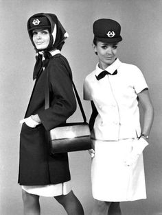 Air France stewardesses, 1970. https://flic.kr/p/G5zbQc