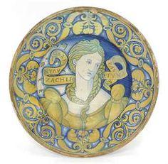 A DERUTA GOLD LUSTRE 'BELLA DONNA' CHARGER | CIRCA 1520 | EUROPEAN ...