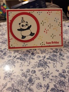Birthday card using Party Pandas from Stampin' Up