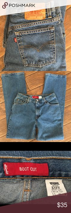 Levi's 517 Boot Cut/ Junior Cut Mid-Rise Jeans Like new. Please see measurements in photos. Levi's Jeans Boot Cut