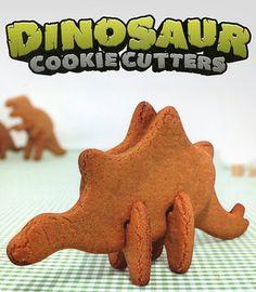 3D Dinosaur Cookie Cutters