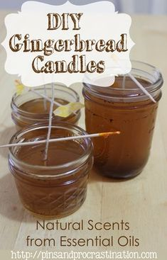 If you love that gingerbread smell you can get it without baking! These DIY gingerbread candles are scented naturally with an essential oil blend I created to smell like delicious gingerbread. These DIY candles are perfect for christmastime and even make a great DIY christmas gift. They are so easy to make, it only took me about 15 minutes!