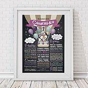 Постер на годовщину свадьбы – купить или заказать в интернет-магазине на Ярмарке Мастеров | Порядок оформления заказа:<br /> <br /> - Вы…