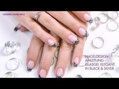 Nageldesign Anleitung - Glasgel elegant in Black & Silver - von German Dream Nails